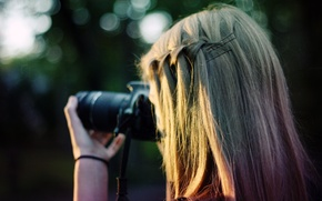Picture girl, nature, background, Wallpaper, mood, hairstyle, blonde, wallpapers, fotoapparat