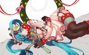Picture girl, holiday, art, Hatsune Miku, Vocaloid, Vocaloid