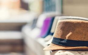 Picture background, focus, blur, hats