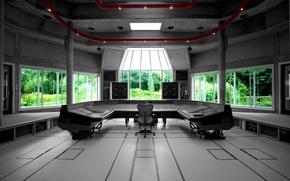 Wallpaper music, Wallpaper, interior, window, sound, speakers, remote, wallpaper, regulators, mixer, Studio, xxl