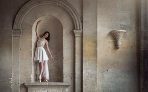Picture wall, statue, ballerina, Pointe shoes, Marie-Lys Navarro