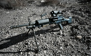 Wallpaper Mark 48, 62×51 mm, machine gun, FN Herstal