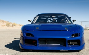 Picture tuning, Mazda, blue, blue, tuning, Mazda, RX-7
