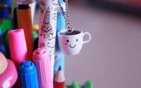 Wallpaper joy, happiness, mood, positive, smile, mug, Cup, small things