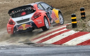Picture Peugeot, Skid, Peugeot, Loeb, Back, 208, WorldRX