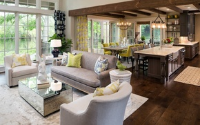 Picture house, interior, living space, design. french style