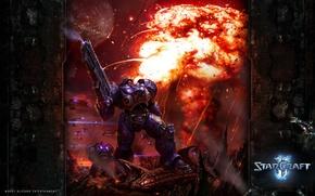Wallpaper Blizzard, StarCraft2, Marine