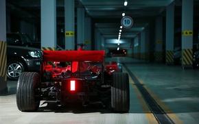 Picture sign, garage, car, Formula F1