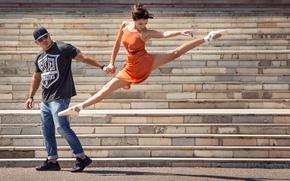 Picture dance, steps, ballerina, Street Ballet