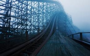Picture the city, fog, slides, amusement
