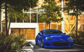 Picture Subaru, sports car, blue, front, Subaru, brz, quick