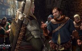Wallpaper Geralt of Rivia, killer, the Witcher, monsters, the bandits, swords, The Witcher 3: Wild Hunt, ...