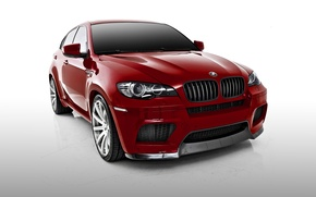 Picture BMW, BMW, white background, Vorsteiner, crossover, X6 M, E71