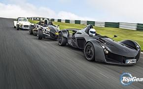 Picture Top Gear, Cars, Speed, Stig, Ariel Atom, Track, BAC Mono, Caterham 160