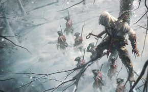 Picture soldiers, Ubisoft, Assassin's Creed III, Connor, Assassin's Creed 3