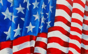 Picture wall, texture, flag, america, usa