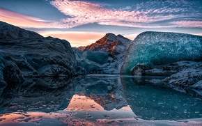 Picture the sky, ice, Alaska