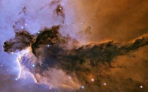 Wallpaper Hubble, Eagle, Nebula