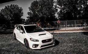 Picture white, Subaru, white, Subaru, sti, STI, wrx sti, 2015, Subar, new model