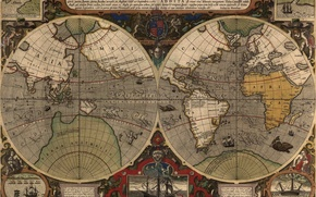 Picture the world, map, old map, leprosy