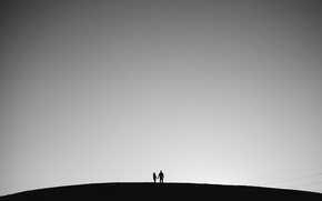 Picture the sky, line, hill, pair