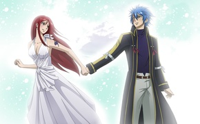 Wallpaper fairy tail, mountains, snow, art, winter, guy, anime, milady666, jellal fernandes, tale of fairy tail, ...