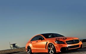 Picture Mercedes, Orange, Auto