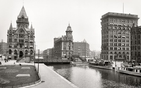 Picture retro, home, New York, channel, USA, 1904-the year