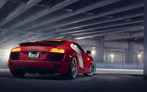 Picture Audi, Audi, red, rear, Supercar 4.2