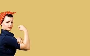 Wallpaper rosie the riveter, We can do it!, girl, poster, gesture, Cleansize Rosie