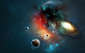 Picture space, planet, galaxy
