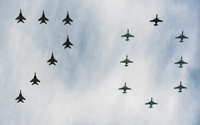 Picture the sky, holiday, fighters, victory day