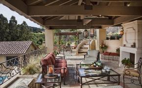 Picture design, style, Villa, interior, terrace