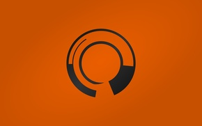 Wallpaper logo, black, orange