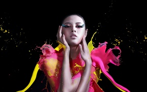 Picture girl, style, paint