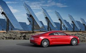 Wallpaper e-tron, audi, solar panels, tron