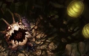 Picture monster, pendant, lanterns, league of legends, kog'maw