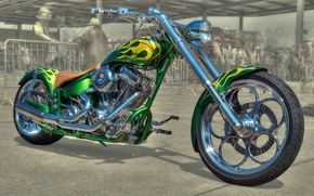 Picture design, style, background, HDR, motorcycle, form, airbrushing, bike