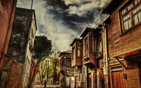 Picture HDR, Street, Istanbul, Turkey, Street, Istanbul, Turkey, Old house, Old house