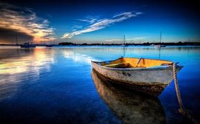 Picture sea, landscape, boat