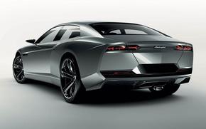 Picture tuning, concept, car, the concept, silver, Lamborghini, tuning, back, estate, lamborghini estoque