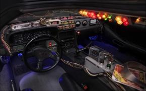 Picture background, devices, the wheel, Back to the future, The DeLorean, salon, DeLorean, DMC-12, Back to …