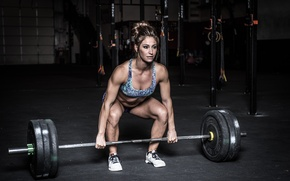 Picture pose, female, gym, crossfit, weightlifter
