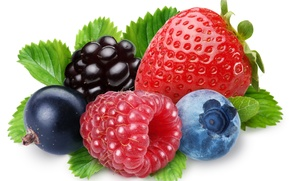 Picture berries, raspberry, blueberries, strawberry, BlackBerry, black currant