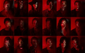 Picture the series, heroes, The Walking Dead, The walking dead