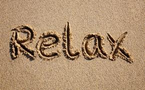 Wallpaper sand, beach, summer, stay, relax, relax