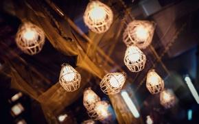 Picture light, night, the city, lamp, lighting, lights, canopy, lanterns, light bulb