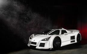 Picture white, light, smoke, light, white, Gumpert, supercar, smoke, Supercar, Apollo
