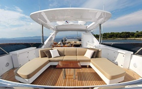 Picture luxury, motor, super yacht, displacement hull
