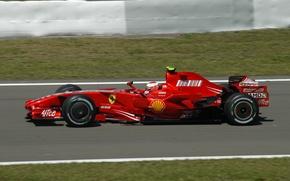 Picture Ferrari, Formula 1, 2007, The Nürburgring, Raikkonen